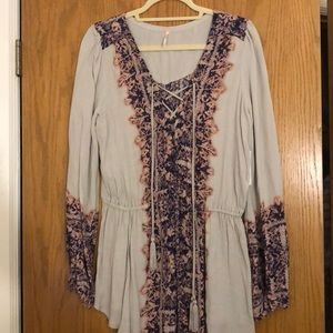 NWT Free People Lace-Up Shirt